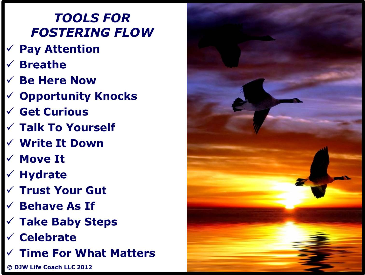 Tools for Fostering Flow