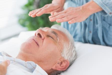 Man Receiving Reiki